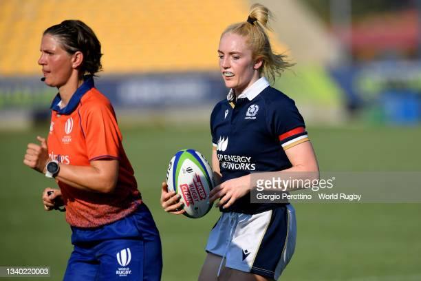 Beibhinn Parsons of Ireland looks on during the Scotland v Italy Rugby World Cup 2021 Europe Qualifying match at Stadio Sergio Lanfranchi on...