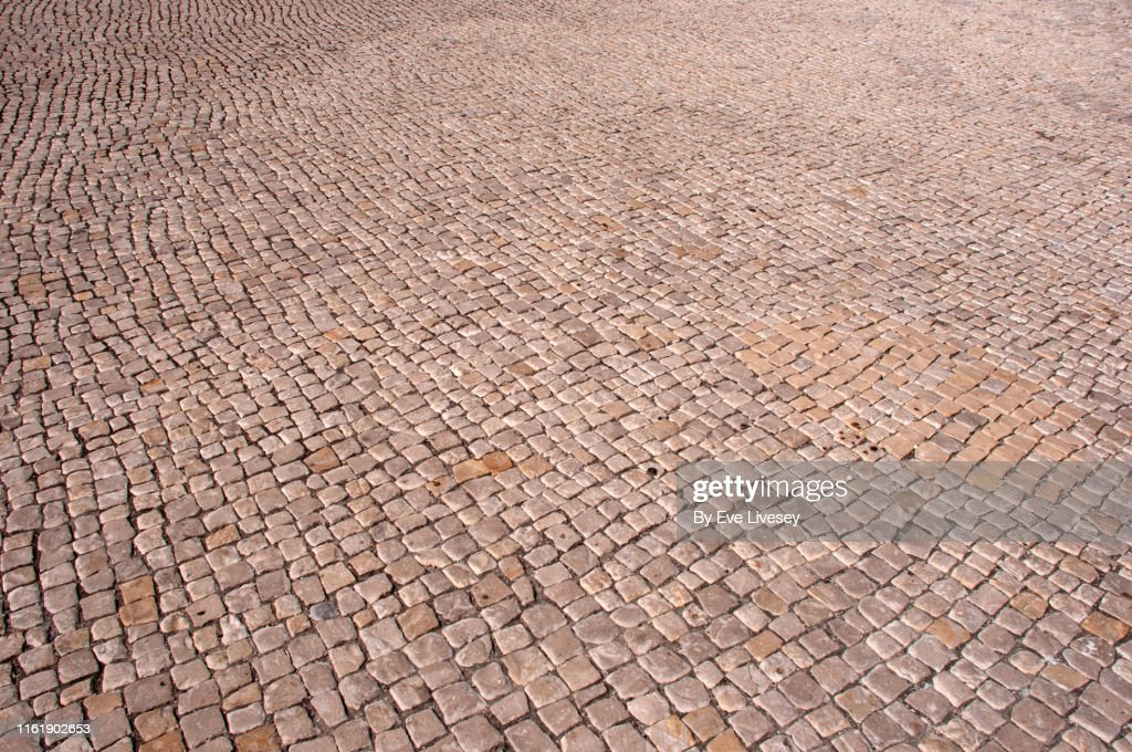Beige Cobblestone Background : Foto de stock