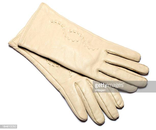 beige glove - beige glove stock photos and pictures