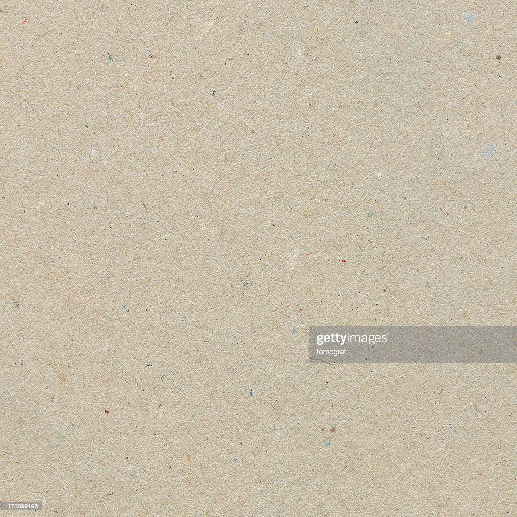 Beige recycled paper with texture grains : Stock Photo