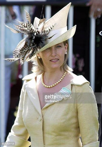 Beige Seems To Be The 'in' Colour For Royals At This Year's Royal Ascot Sophie Countess Of Wessex Walks Back From The Paddock To Watch The Next Race