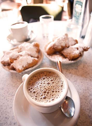 Beignets and Coffee - gettyimageskorea