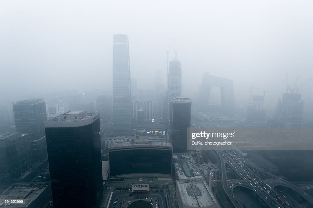 Beijing air pollution : Stock Photo