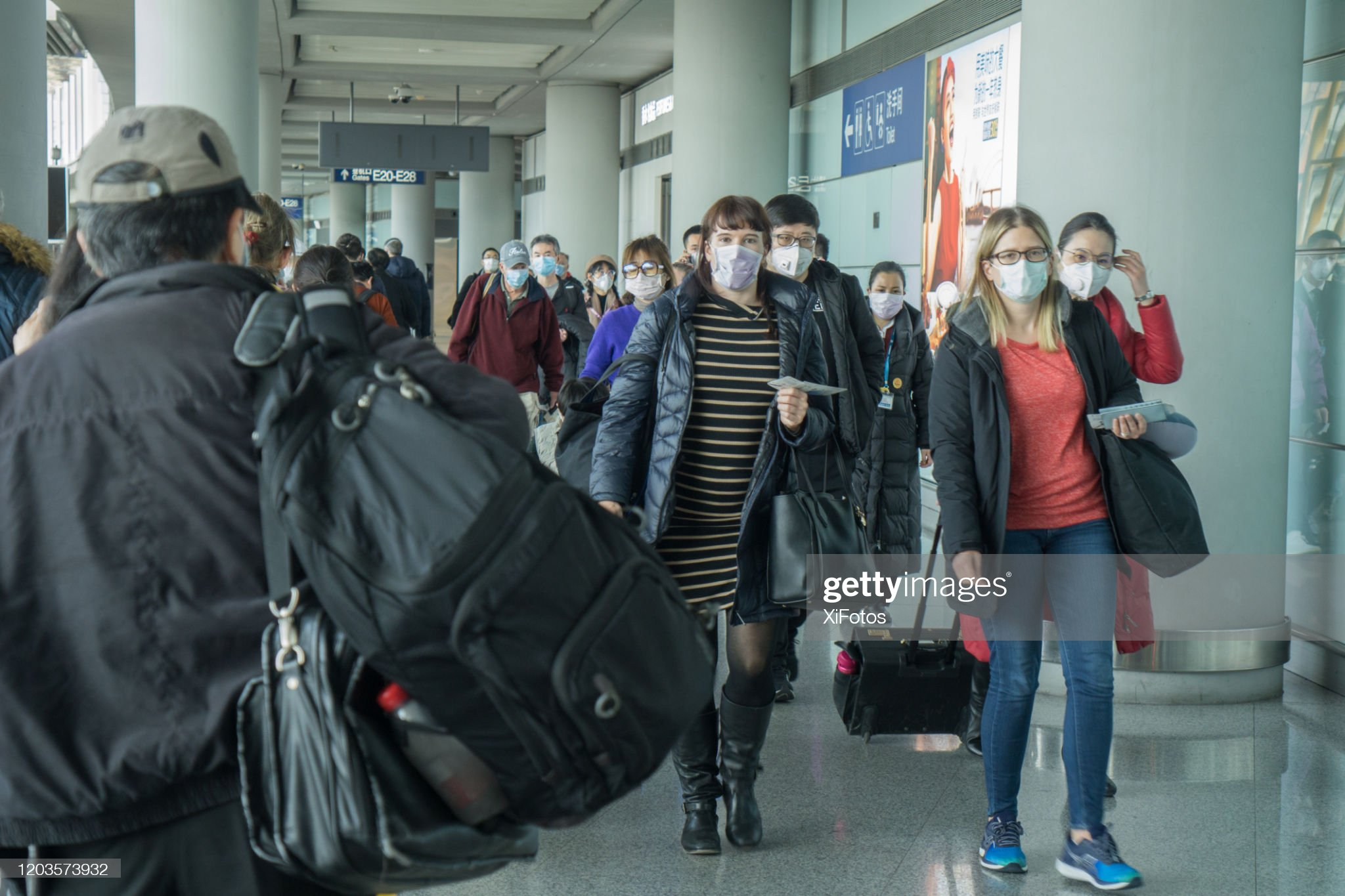 Beijing Airport During Coronavirus Outbreak : Stock Photo