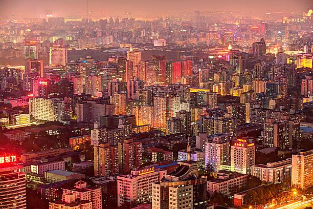 Beijing Buildings Density Wall Art