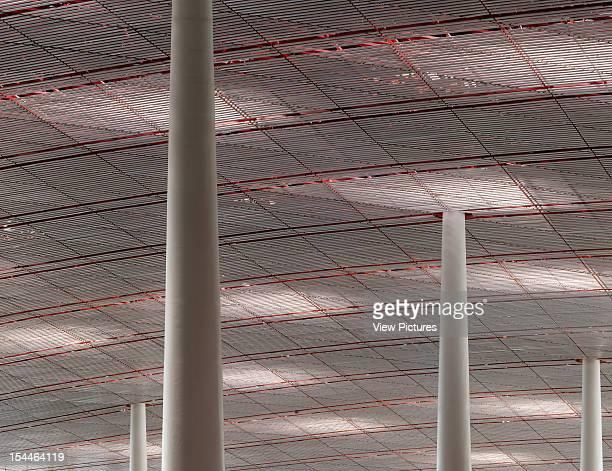 Beijing Capital International Airport Beijing China Architect Foster And Partners Beijing Capital International Airport Foster And Partners Red Roof...