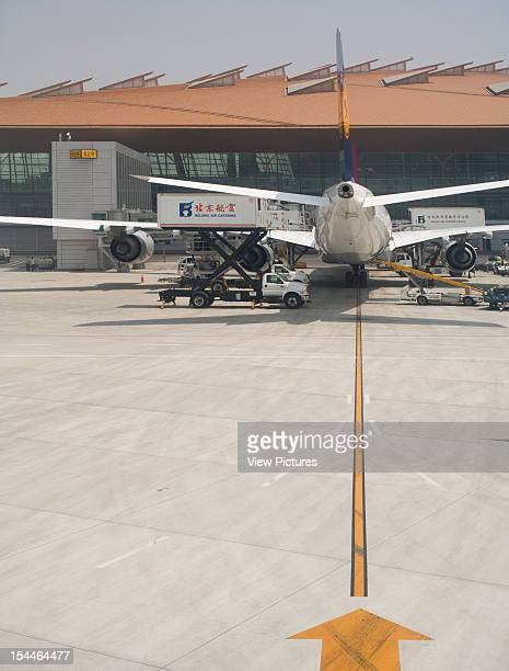 Beijing Capital International Airport Beijing China Architect Foster And Partners Beijing Capital International Airport View From Runway Plane And...