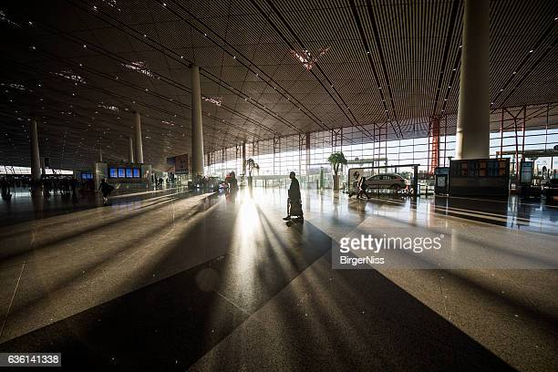 Beijing Capital International Airport in the early morning light