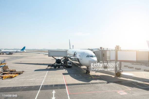 beijing capital international airport - moored stock pictures, royalty-free photos & images