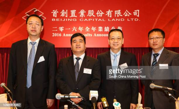 Beijing Capital Land Limited CFO Mr. Fan Shu-bin, Chairman Mr. Li Song-ping, President Mr. Tang Jun and General Manager and Head of Investor...