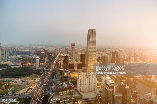 Beijing CBD area in Sunlight
