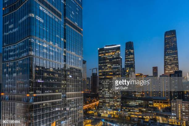 beijing cbd area (china world trade center) - beijing province stock photos and pictures
