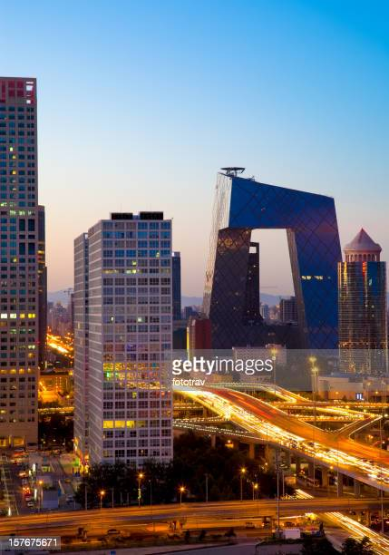 Beijing CBD bei Nacht
