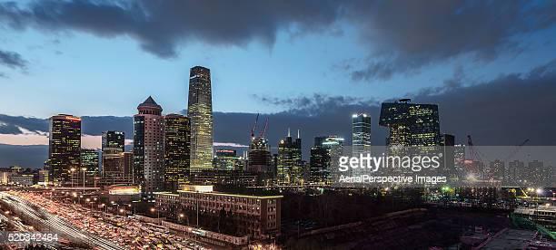 Beijing CBD Panorama View at dusk