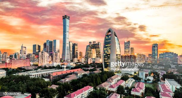 beijing cbd - beijing province stock photos and pictures