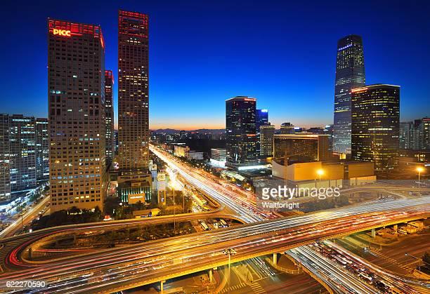 Beijing CBD scenery at night.