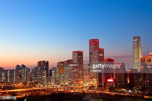 Beijing CBD skyline by night