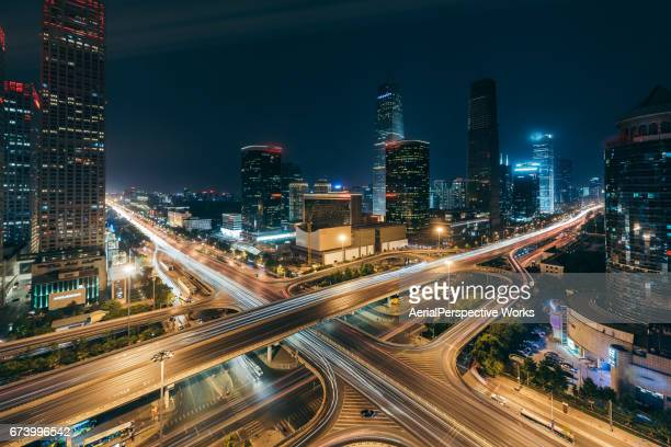 Beijing Central Business District at Night