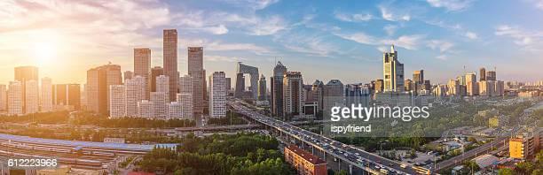Peking, Central Business district Gebäuden, China Stadt skyline