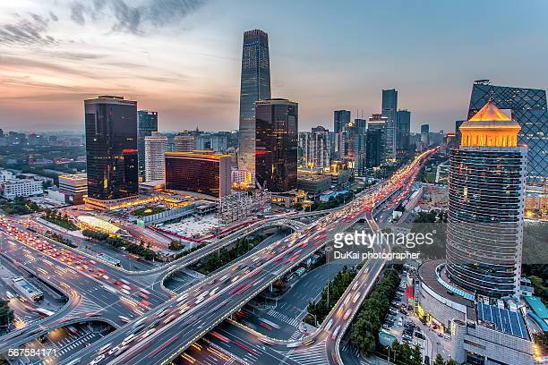 beijing central business district - china stock-fotos und bilder