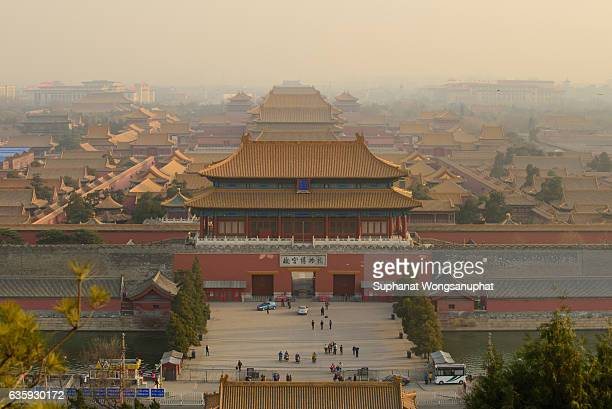 beijing, china at the imperial city north gate. - tiananmen square stock pictures, royalty-free photos & images