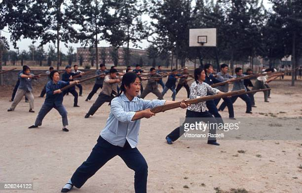 Beijing China Female students attend a how to use a gun lesson during the Cultural Revolution at a Beijing University May 23 1971