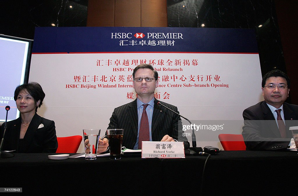 Richard Yorke , CEO of HSBC China, along with his staff