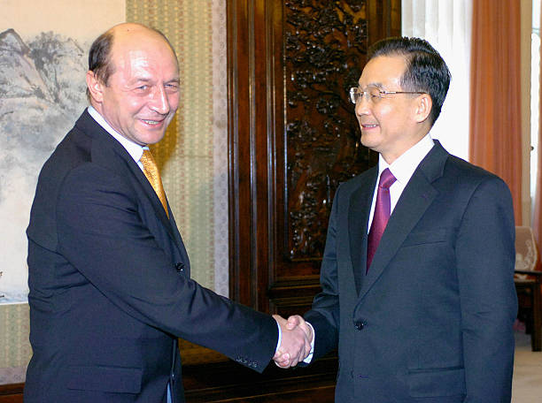 Image result for President of Romania, Traian Băsescu visits china