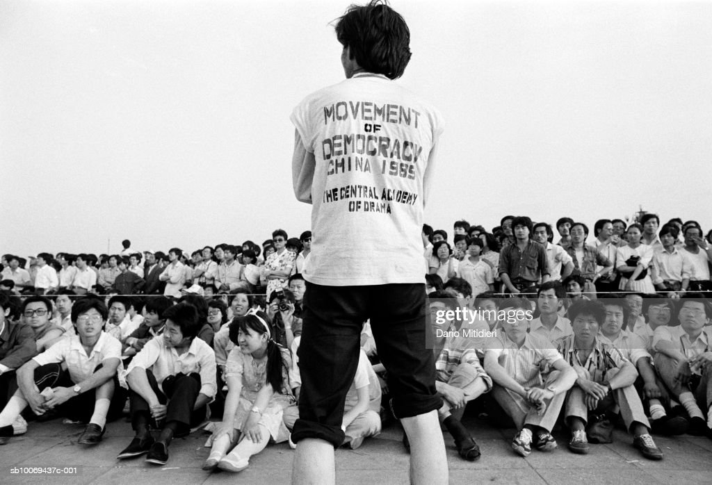 1989, Beijing, China, Student rally in Tiananmen Square just a few days before the bloody army crackdown on the pro-democracy movement in Beijing.