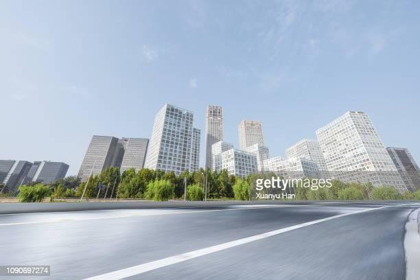 beijing city road - 澄んだ空 ストックフォトと画像