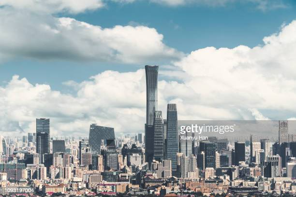 beijing city skyline - beijing province stock photos and pictures