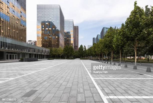 beijing city square , auto advertising background - street stockfoto's en -beelden