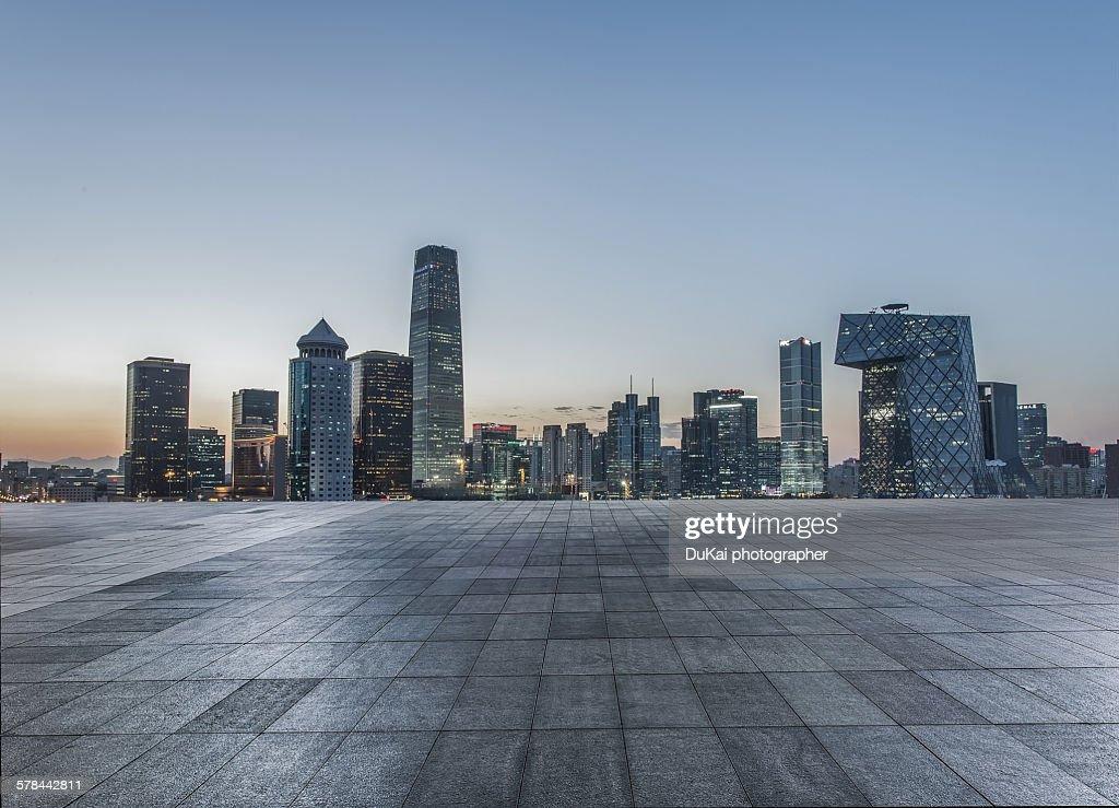 Beijing city square : Stock Photo