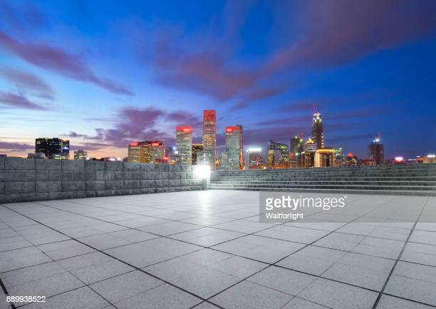Beijing downtown district at night