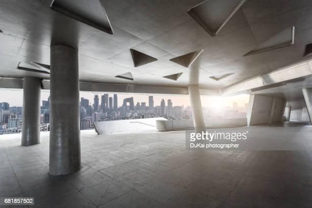Beijing  empty Parking garage building