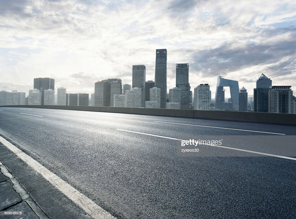 Beijing famous business district and road bridge,China - East Asia, : Stock Photo