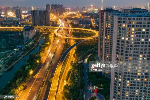 Beijing Highway aerial view