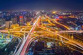 Beijing Highway at Night