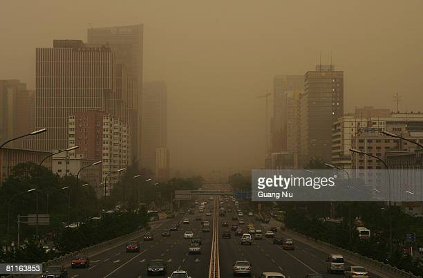 Beijing is shrouded with smog on May 20, 2008 in Beijing, China. The International Olympic Committee has warned some outdoor events could be at risk...