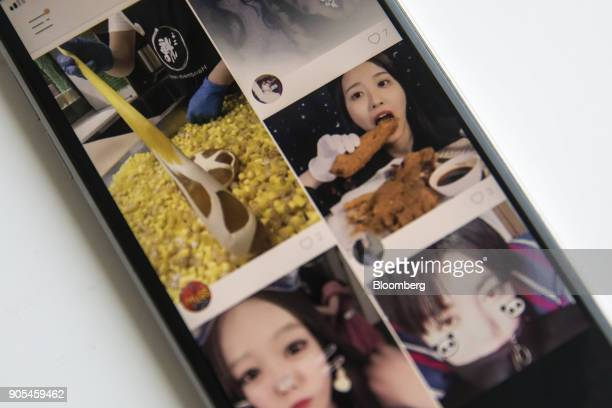 Beijing Kwai Technology Co's app Kuaishou or Kwai is arranged for a photograph on a smartphone in Hong Kong China on Tuesday Jan 16 2018...