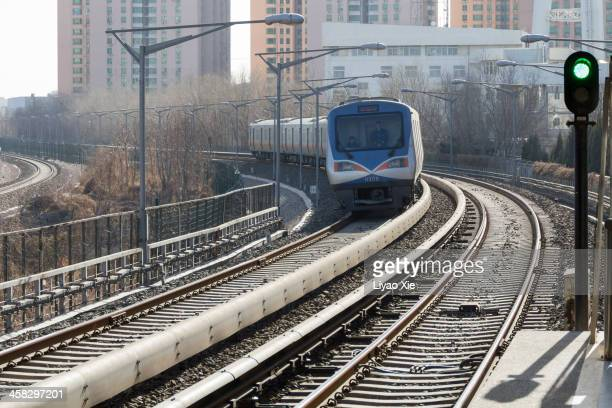 beijing light train - liyao xie stock pictures, royalty-free photos & images