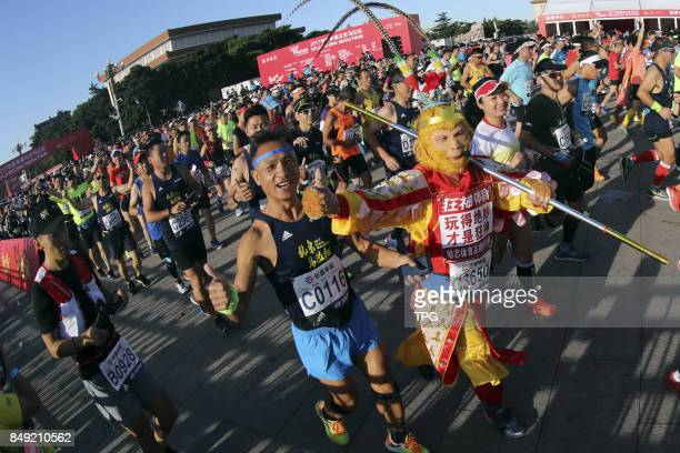 Beijing Marathon the oldest and most influential marathon in China kicks off on Sept 17 attracting 30000 players from 33 countries and regions to...