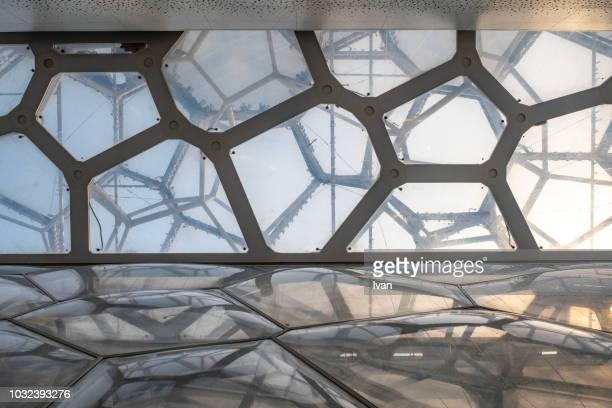 beijing national aquatics center, water cube - stadio olimpico nazionale foto e immagini stock