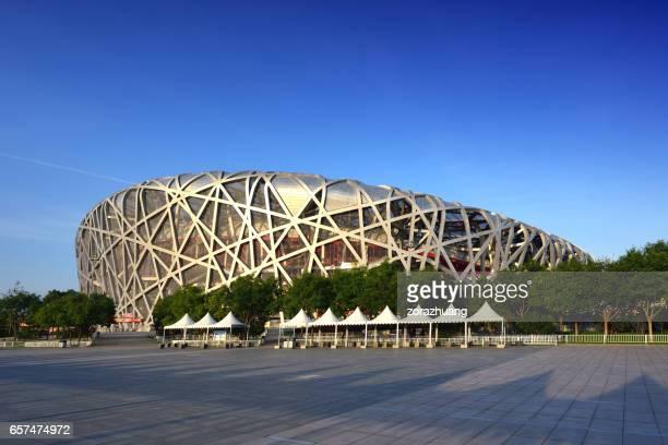 beijing national olympic stadium, china - stadio olimpico nazionale foto e immagini stock