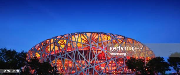 stadio olimpico nazionale di pechino, cina - stadio olimpico nazionale foto e immagini stock