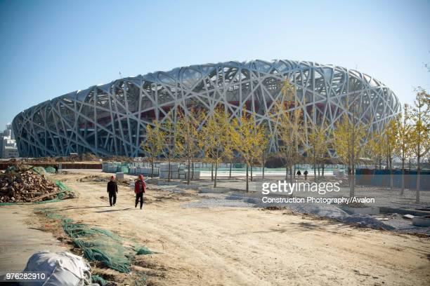 Beijing National Stadium also known as the Bird's Nest Beijing China