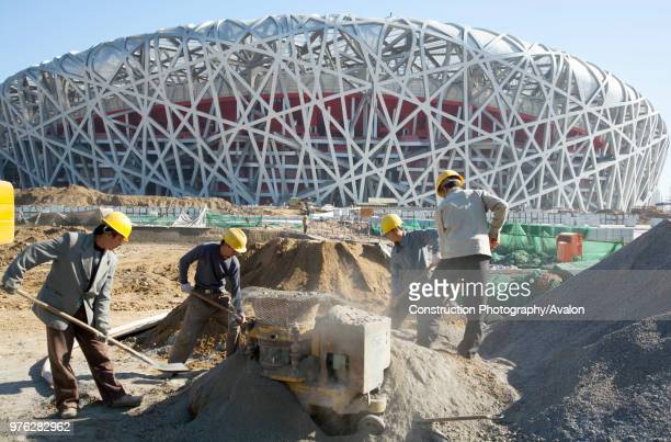 Beijing National Stadium, also known as the Bird's Nest, Beijing, China.