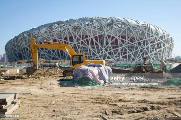 Beijing National Stadium, also known as the Bird's Nest, Beijing, China.