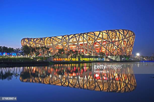 beijing national stadium - stadio olimpico nazionale foto e immagini stock