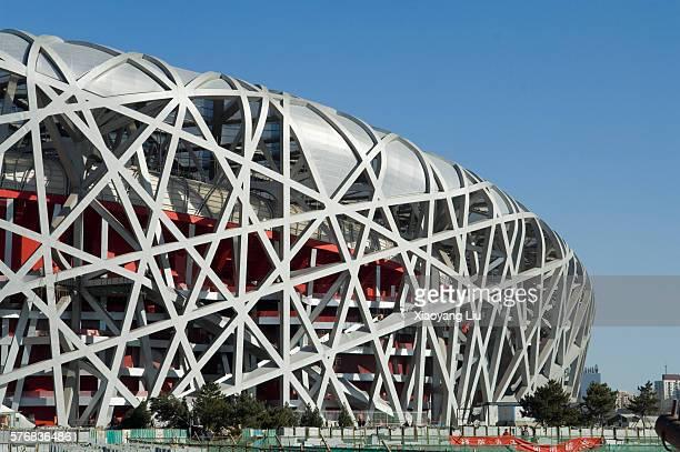 beijing national stadium under construction - 国立オリンピック競技場 ストックフォトと画像
